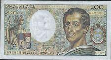 200 FRANCS MONTESQUIEU (1991) G.087 - BILLET DE BANQUE FRANCAIS (TTB)