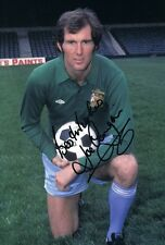 Signed Joe Corrigan Manchester City Autograph Photo Goalkeeper Maine Road