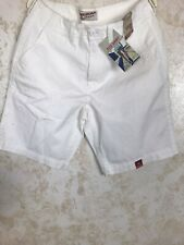 Arizona Jeans Co. Flat Front Zip Men's Shorts White Size 34 New