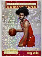 2019-2020 Panini Contenders Coby White Sparkle Prizm Rookie Rc Chicago Bulls 📈