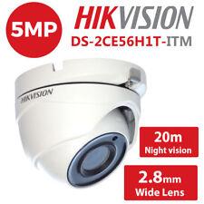 Hikvision 5MP CCTV 1080p DS-2CE56H1T-ITM IP67 20M EXIR Turret White 2.8mm Camera