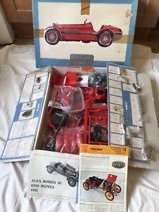 Pocher Alfa Romeo 8C 2300 Monza 1931 Car Model Kit 1/8 Scale SOME SUB ASSEMBLY