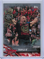2017 TOPPS ROAD TO WRESTLEMANIA WWE TRIPLE H #33 (REIGNS) SILVER PARALLEL /25