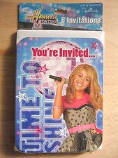 NEW Hallmark Disney Hannah Montana 8 Party Invitations & Envelopes