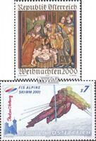 Österreich 2334,2335 (kompl.Ausg.) postfrisch 2000 Sondermarken