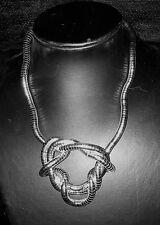 Flexible Snake Necklace/Bracelet - Silver