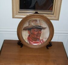 1979 A Tribute John Wayne The Man Of The Golden West First Edition Framed Plate