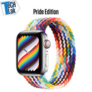 New Pride Edition Braided Solo Loop For Apple watch band Fabric Nylon