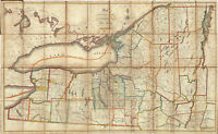 1712 Map Northern Part of the State Of New York Wall Art Poster Vintage History