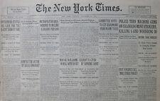 11-1927 November 22 POLICE MACHINE GUN COLORADO MINE STRIKERS 5 DEAD - DEMPSEY
