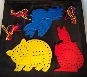 Kangaroo Large Animal Lacing Set - Threading - Fine Motor - Educational - Lacer