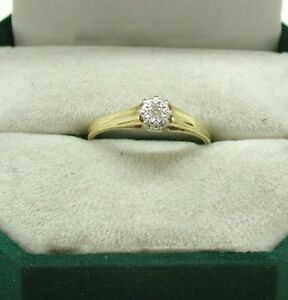 Very Nice Vintage 18ct Gold Diamond Solitaire Ring