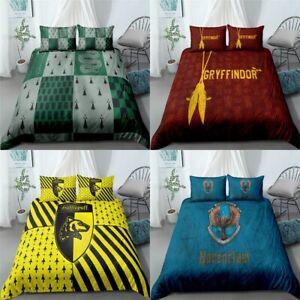 Harry Potter Design Quilt Cover 3PCS Bedding Set 3D Print Duvet Cover Pillowcase