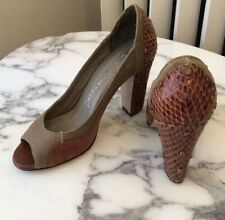 Jeffery Campbell canvas & leather pumps 7.5