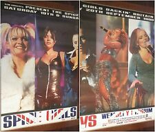 "2-PANEL 80X120"" HUGE SUBWAY POSTERS~Spice Girls 1998 Tour Live@ Wembley Stadium~"