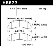 Disc Brake Pad Set-XLT Front Hawk Perf HB672Z.714