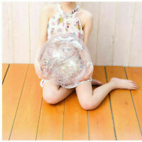 Beach Ball PVC Inflatable Pool Ball Toy Pool Party Glitter Floating Ball