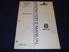 FORD NEW HOLLAND TR87 87 COMBINE OPERATION & MAINTENANCE MANUAL BOOK