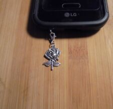 Silver Rose Cell Phone Clip Charm~Dust Plug Cover~Free Ship