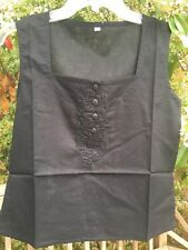 New_Peasant_Boho_Goth Shirt_Black Cotton Top_Sizes S, M, L, XL_Cute!