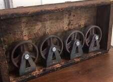 4x Gussräder Möbel Rollen Metall Vintage Industriestyle Gusseisen Loft shabby