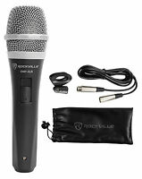 Rockville RMP-XLR Dynamic Cardioid Professional Microphone W/10' XLR Cable + Cli