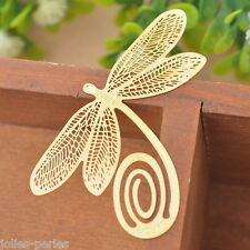 JP 1PC Bookmarks Dragonfly Chic Reading Gift Office Supplies Exquisite Art Craft