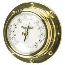 Barometer (Rivet-style) Brass 10cm Bulkhead Mounted