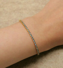 Women's Tennis Bracelet Yellow Gold Finish 14k 2ct Tiffany Diamond Color Br3