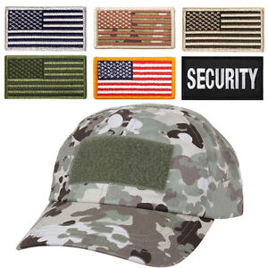 Total terrain camo hat special forces tactical operator cap with US flag patch