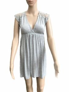 Grey Summer Dress With Lace Trim, Size 8 -10, BRAND NEW, AWESOME!