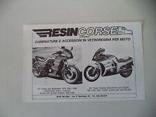advertising Pubblicità 1984 RESINCORSE RESIN CORSE DINO SUZUKI KATANA/KAWASAKI