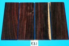 4 PIECES COCOBOLO ROSEWOOD KNIFE SCALES~KNIFE BLANK HANDLE GRIPS~EXOTIC WOOD