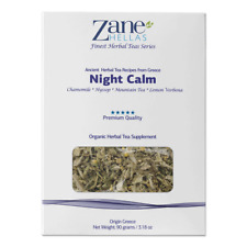 ZANE HELLAS Finest Herbal Teas. Night Calm. Bed Time Tea. Ideal for Deep Sleep.