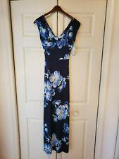Gilli Navy Blue Women's Size Small Mitchel Jersey Maxi Dress #23483-981-B (NEW)