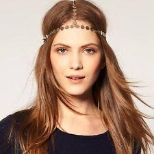 Stirnband Münzen Kette Statement Blogger Gothic Haarband Haarkette Kopfkette NEU