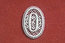 Number 0/zero - sew-on lace motif/applique/patch/craft/card making