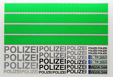 RC 'POLIZEI' German Police Decals stickers green stripes Police Car Drift