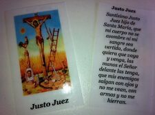 SMALL HOLY PRAYER CARDS FOR JUST JUDGE PRINTED IN SPANISH SET OF 2 FREE US SHIP!