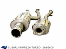 BlueFlame Performance Cat Back Sports Exhaust Subaru WRX 4WD Sedan 95-00
