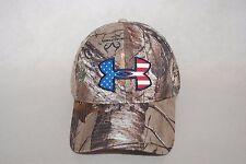 New Under Armour Men's Camo Realtree AP-Xtra Big Flag Cap Hat 2.0 1282392 OSFM