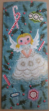 Vintage 1950's Used A Sunshine Card Christmas Greeting Angel Ornament Tree Xmas