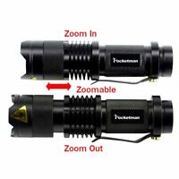 Portable Mini LED Penlight Q5 Waterproof LED Flashlight 3 Modes Zoomable Torch