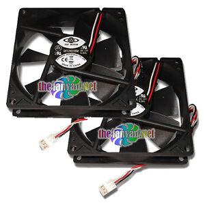 2 Medium Speed 92mm Case Fans w/ 3 pin connector + SCREWS!