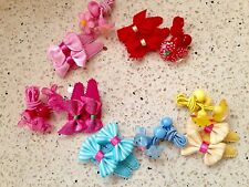 Baby Girl Hair Bow Clip Tie Butterflies Bunny Rabbit Bear Flower Set 20 Bulk Lot