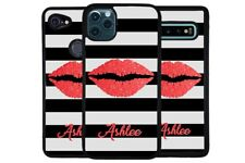 Red Lips Lipstick Script Personalized Phone Case for Apple Samsung LG Google