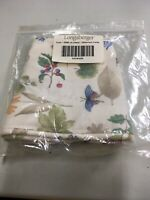 Longaberger 2000 Large Easter Basket Liner Botanical Fields Fabric & Bows NEW