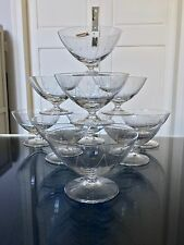 11 Coupes à champagne Art Déco en cristal , service de table