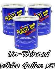 3 Gallons White UNTHINNED Performix Plasti Dip Concentrate STRENGTH FREE S/H