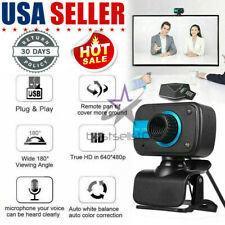 HD Webcam USB Computer Web Camera For PC Laptop Desktop Video Cam W/ Microphone